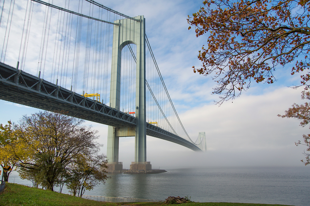 Verrazano Narrows Bridge in an autumn fog.jpg