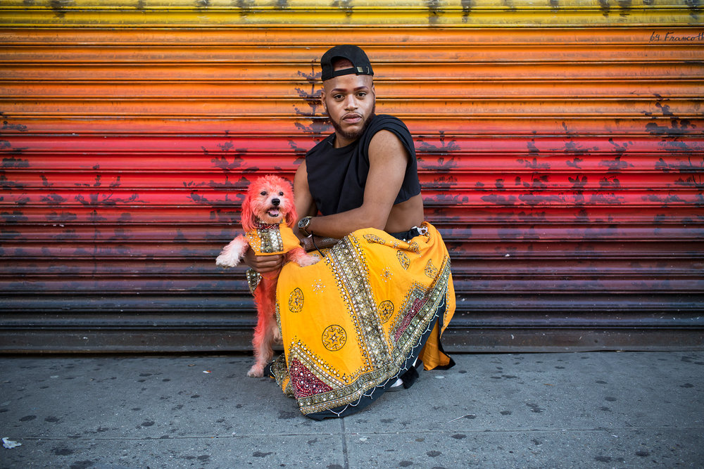 Taliek and his dog Nate - Harlem, 2017