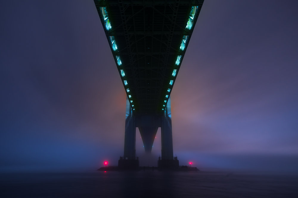 A Foggy Evening Under the Verrazano-Narrows Bridge - Bay Ridge, 2018