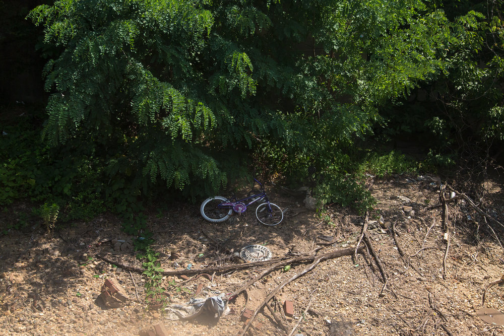 Trackside Abandoned Child's Bicycle - Brentwood, Washington D.C. - 7.6.2014 - WAS-NYP