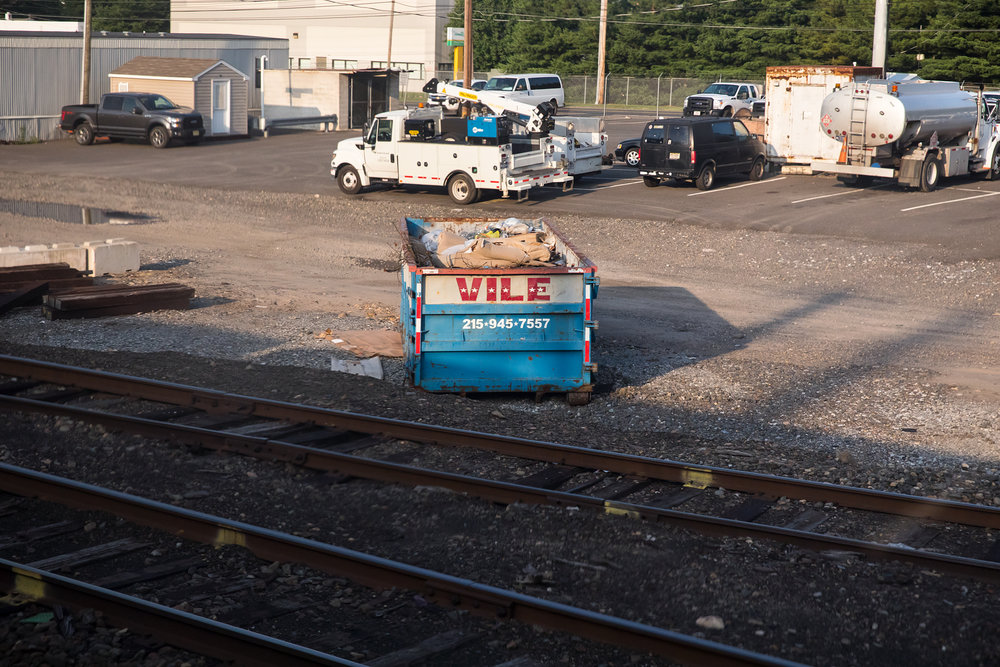 VILE dumpster.  Morrisville, PA 7.5.2017 - WAS-NYP