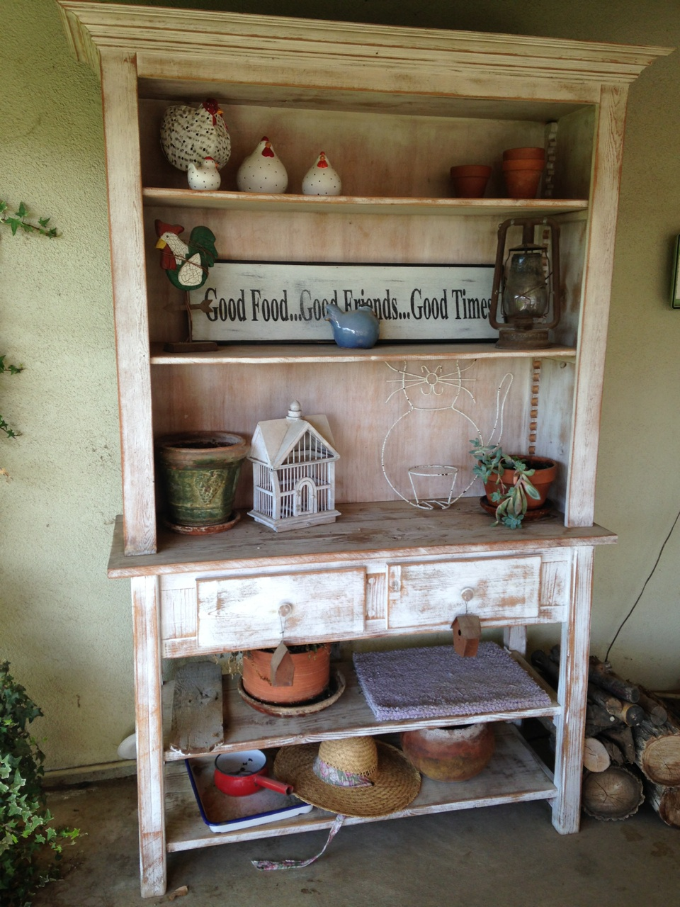 Garden Hutch Made From Discarded Job Site Lumber