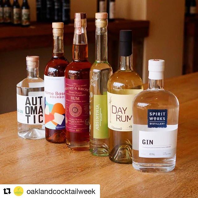 "Finally, a celebration of Oakland from the creativity with spirits angle. So many talented innovators, bartenders, and makers involved in this. We are delighted to be included. Thanks to all the bars–listed below but adding in @hawkingbirdoak –using our expressions to create an ""Oakland Themed Cocktail."" #Repost @oaklandcocktailweek with @get_repost ・・・ Oakland's got spirit! Join us and @visitoakland tomorrow at @eatrealfest as we kick off Oakland Cocktail Week with a local crafts spirits showcase. Each day we will feature a different local spirit brand and distiller. Enjoy craft cocktails created by @nido510 @copperspoonoak @sidebaroakland @bar_355.  Friday: @spiritworksdistillery and @homebasespirits Saturday: @absinthia_absinthe and @nickeldimesyrups  Sunday: @drinkmosswood @oaklandspirits  @wrightandbrown  Stop by, grab a cocktail and get a voucher for a discount on these spirits @alchemybottleshop. Support small businesses and local craft spirits! A portion of proceeds benefits @rocthebay. 🍹 —————————⠀ Oakland Cocktail Week is coming September 15-23! Come out and support Oakland's funky, diverse cocktail culture and community. Check our website (link in bio) for more information.⠀ —————————⠀ ⠀ 📸: @therealiszy ⠀ —————————⠀ #oakland #eatrealfestival #keepitoakland #starlinesocialclub #artofcocktails  #haveadrink  #cocktails #bayareabars #bestbarsintheworld #cocktails🍹 #imbibegram #drinkpunch #oaklandcocktails #bayarea #eastbay #bayareabars #iloveoakland #oaklandcalifornia #oaklandloveit #bayareafoodie #mixologyart #cocktailart #spirits #drinkphotography #oaklandbars #oaklandsgotspirit #oaklandspirits #oaklandcocktailweek"