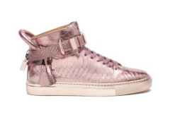 Buscemi 100MM Metal Python Hightop in Rose Gold