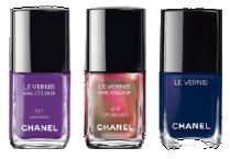 Chanel Nail Varnish in Lavanda, Troublante, & Blueboy