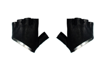 Majesty Black's Half Metal Driving Glove