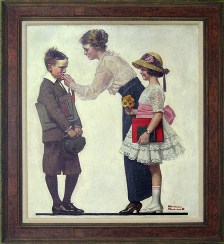 NORMAN ROCKWELL<br/>First Day of School
