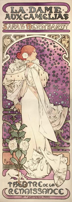 ALPHONSE MUCHA<br/>La Dame aux Camelias