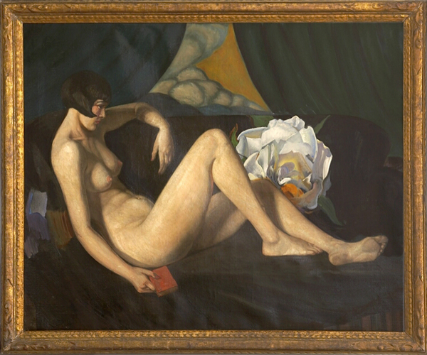 MARSDEN HARTLEY, WILLIAM J. POTTER, GEORGIA O'KEEFFE<br />Louise Brooks Reclining