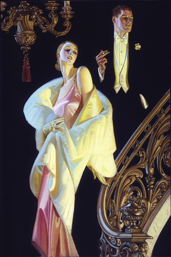 J.C. LEYENDECKER<BR/>Couple Descending Staircase