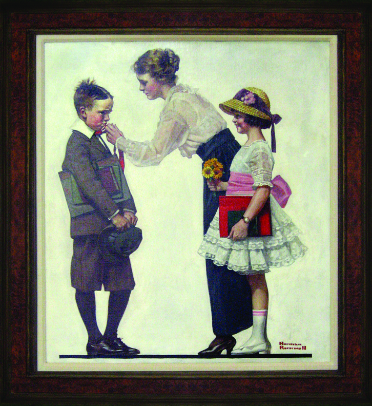 NORMAN ROCKWELL First Day of School Oil on canvas