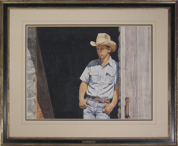 BART LINDSTROM<BR/>A Young Cowboy