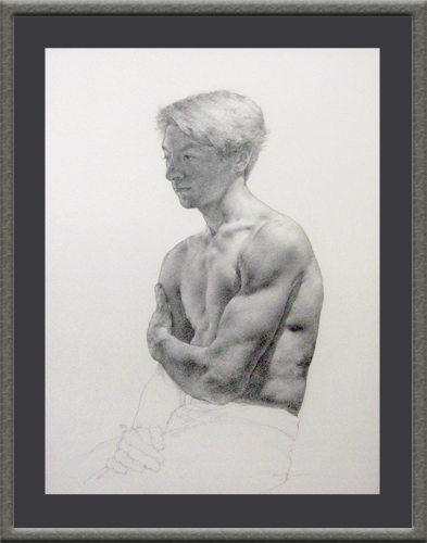 ANTHONY RYDER<BR/>Drawing - Male Torso