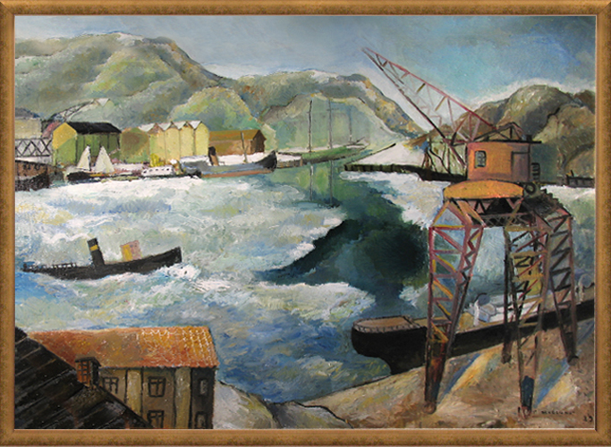FRITHIOF BERGLUND<BR/>Motif from the Port, 1929