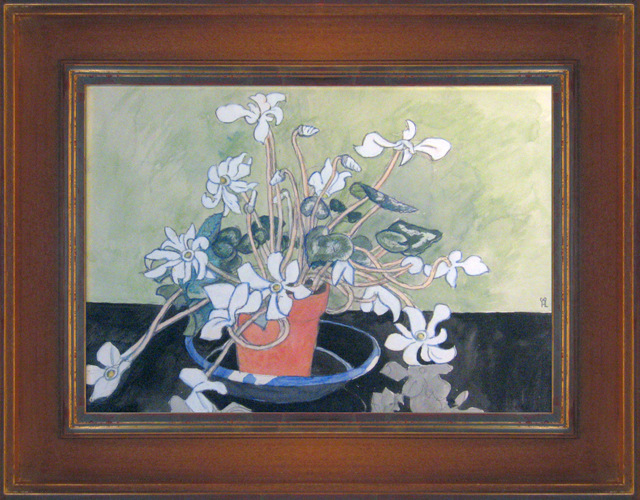 HILDING LINNQVIST<BR/>Still Life with Cyclamen