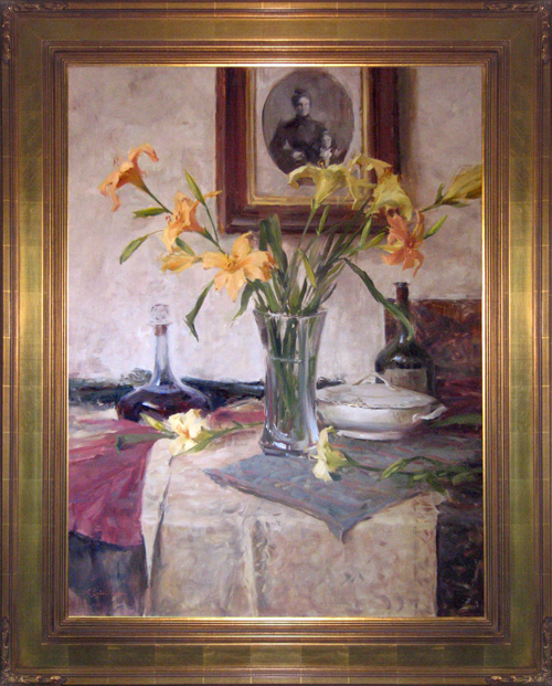 JOHN ENCINIAS<BR/>Still Life with Lilies