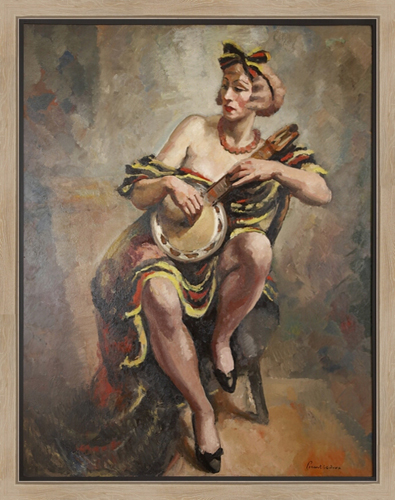 JEAN PICART LE DOUX<BR/>Woman with Banjo