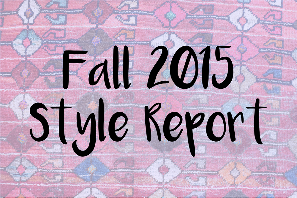 Faye Lessler's Fall 2015 Sustainable Style Report from fashion wishlist, fall outfit ideas from sustainable fashion brand trends for the season.
