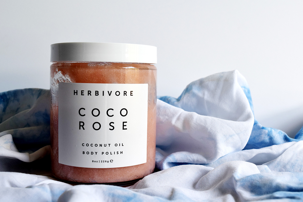 Herbivore Botanicals Coco Rose Body Polish sugar coconut oil body scrub summer beauty skin