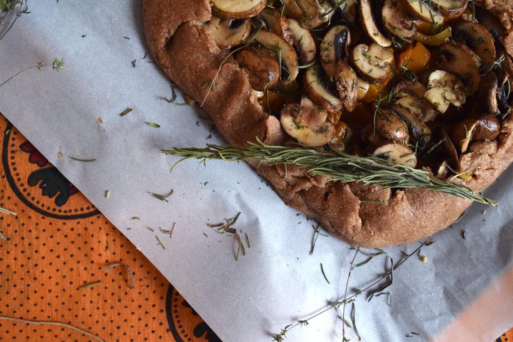 Butternut Squash & Mushroom Tart