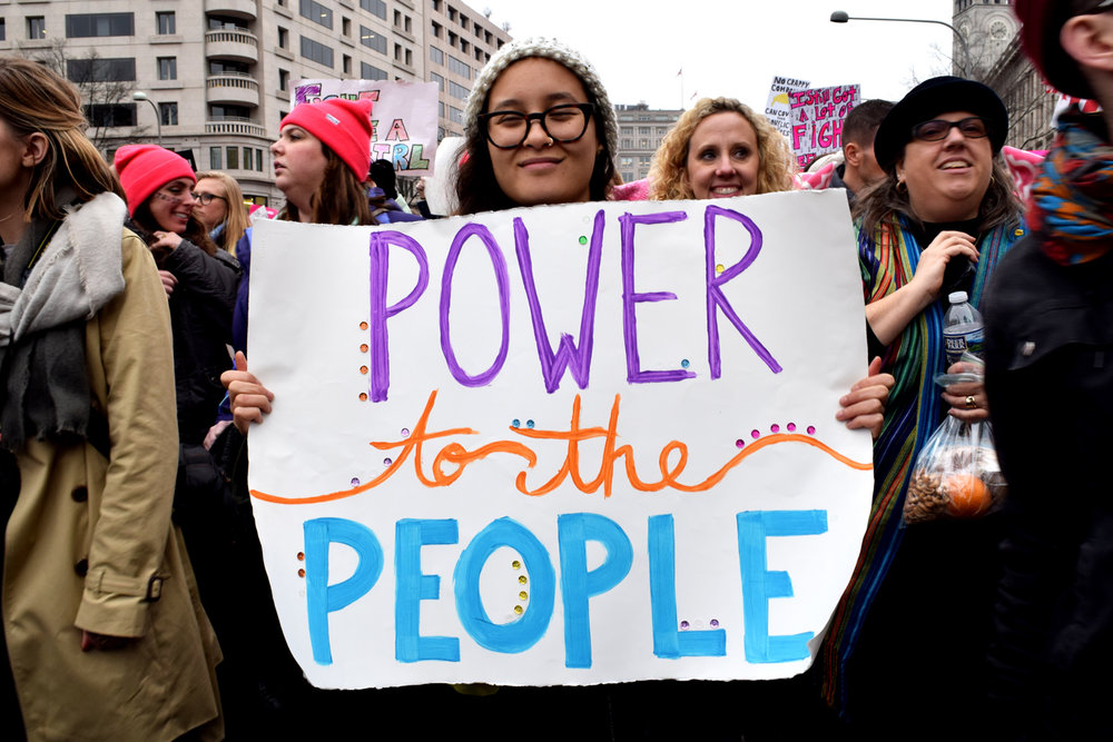 Power to the people at the Women's March on Washington