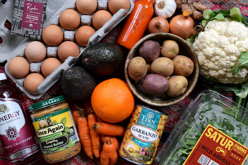 how to eat sustainably groceries for my food today