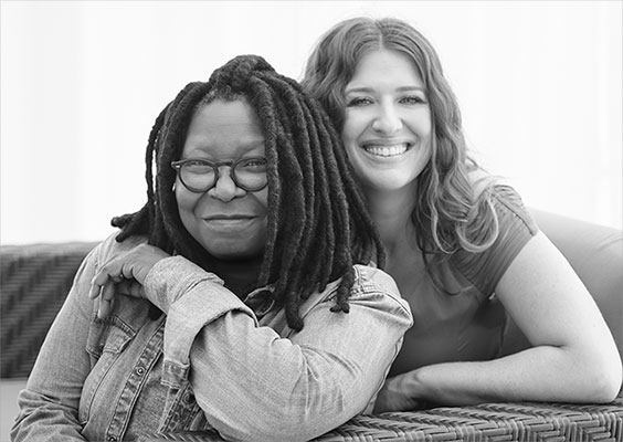 Whoopie Goldberg and Maya Elisabeth. Image via Om Edibles.