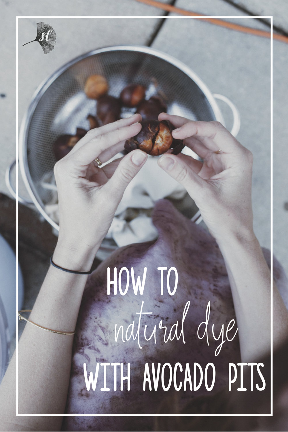 How to natural dye with avocado pits