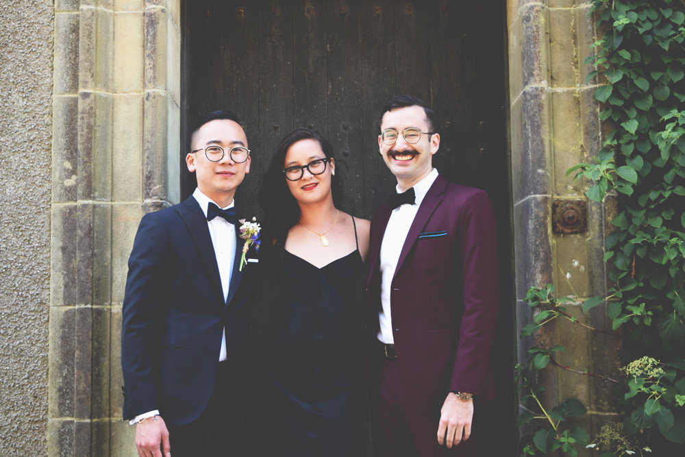 One of the grooms, Thom, with Jeremia and I.