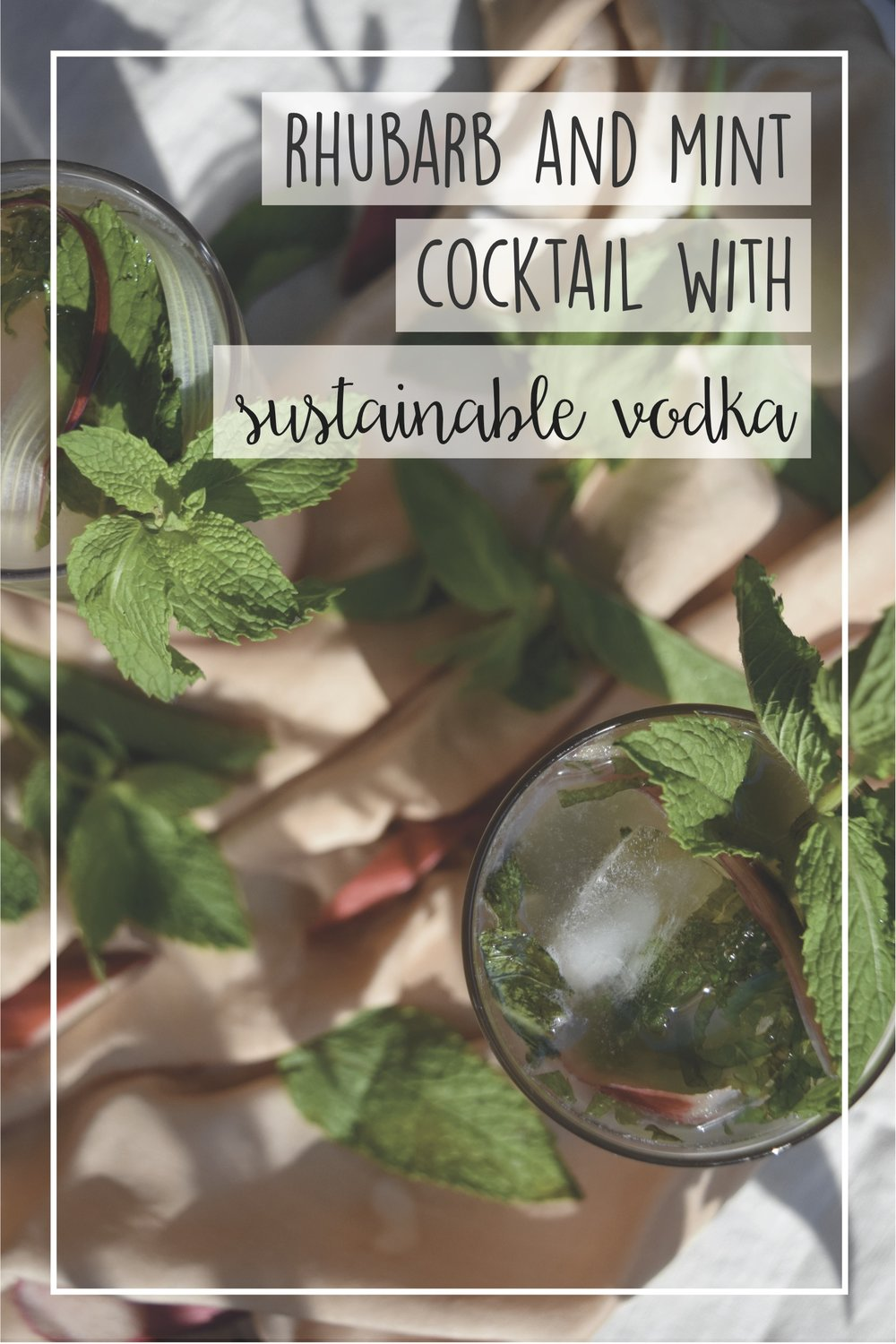 sustainable cocktail, organic vodka