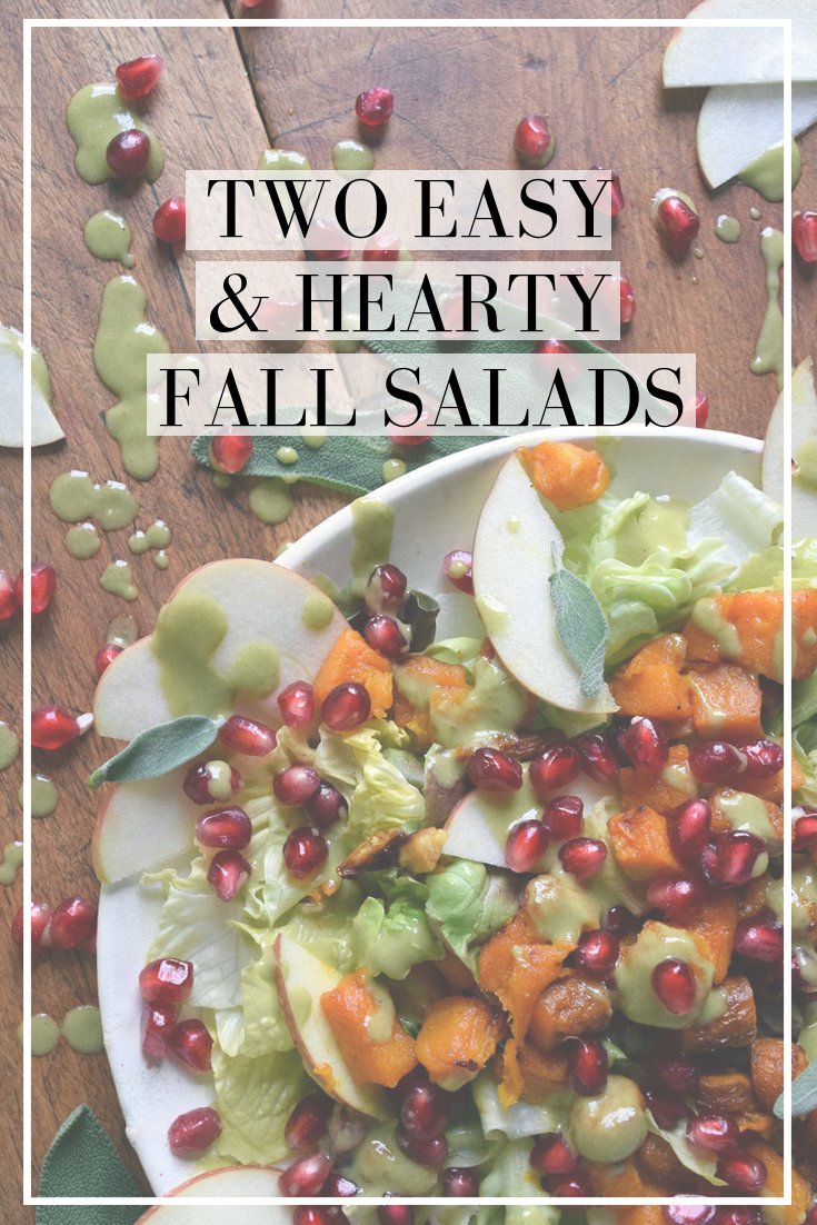 Two easy and hearty fall salads