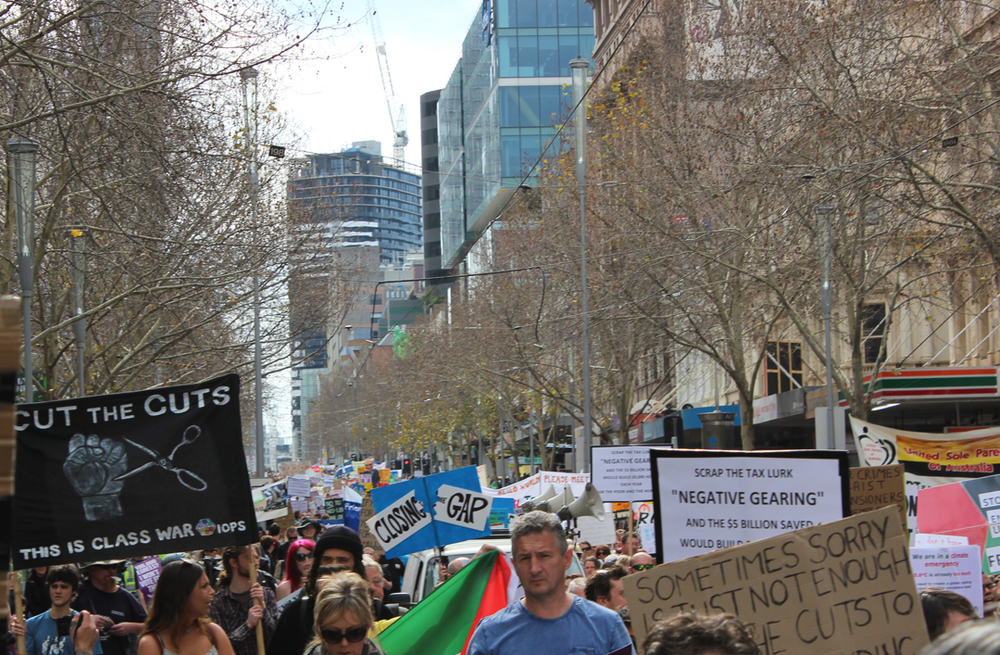 A big crowd - March Australia Melbourne August 2104 .jpg