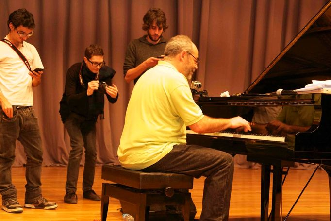 "Rehearsals for premiere of ""The Art of Improvisation"""