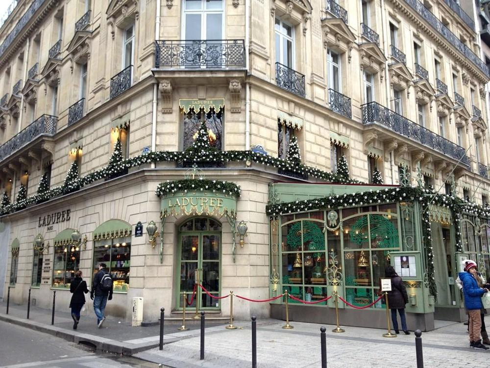 The beautiful Ladurée shop in Paris