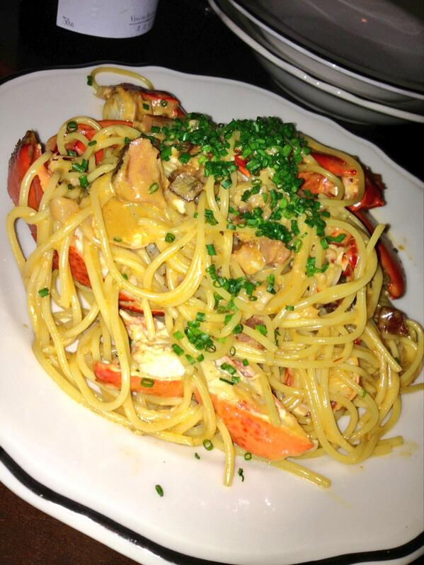 Lobster Spaghetti at Joe Beef in Montreal