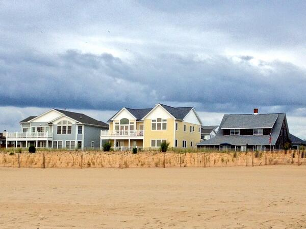 Houses along Dewey Beach