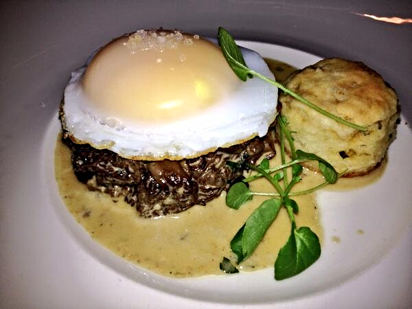 Morels appetizer at 1789 Restaurant