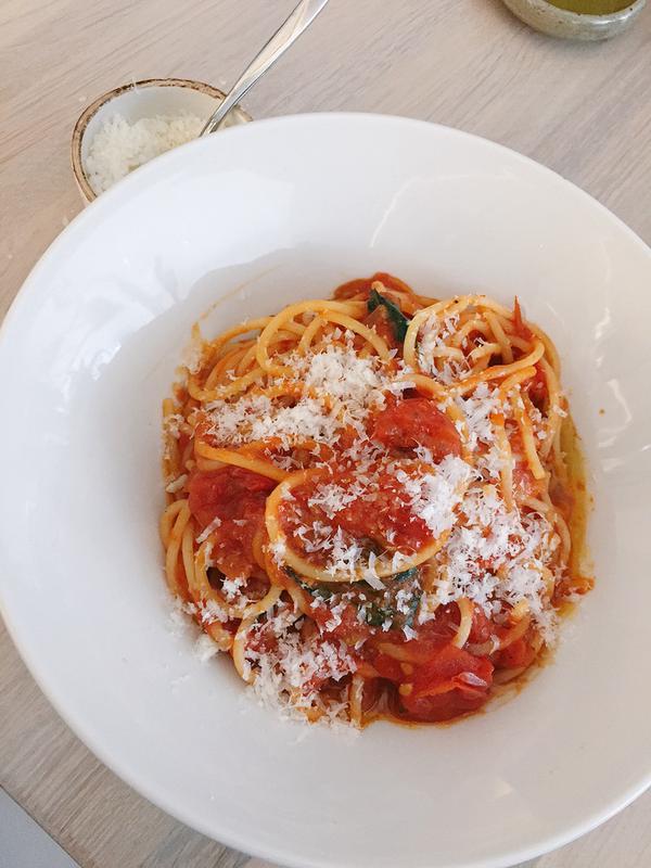 Spaghetti Pomodoro at Centrolina in DC