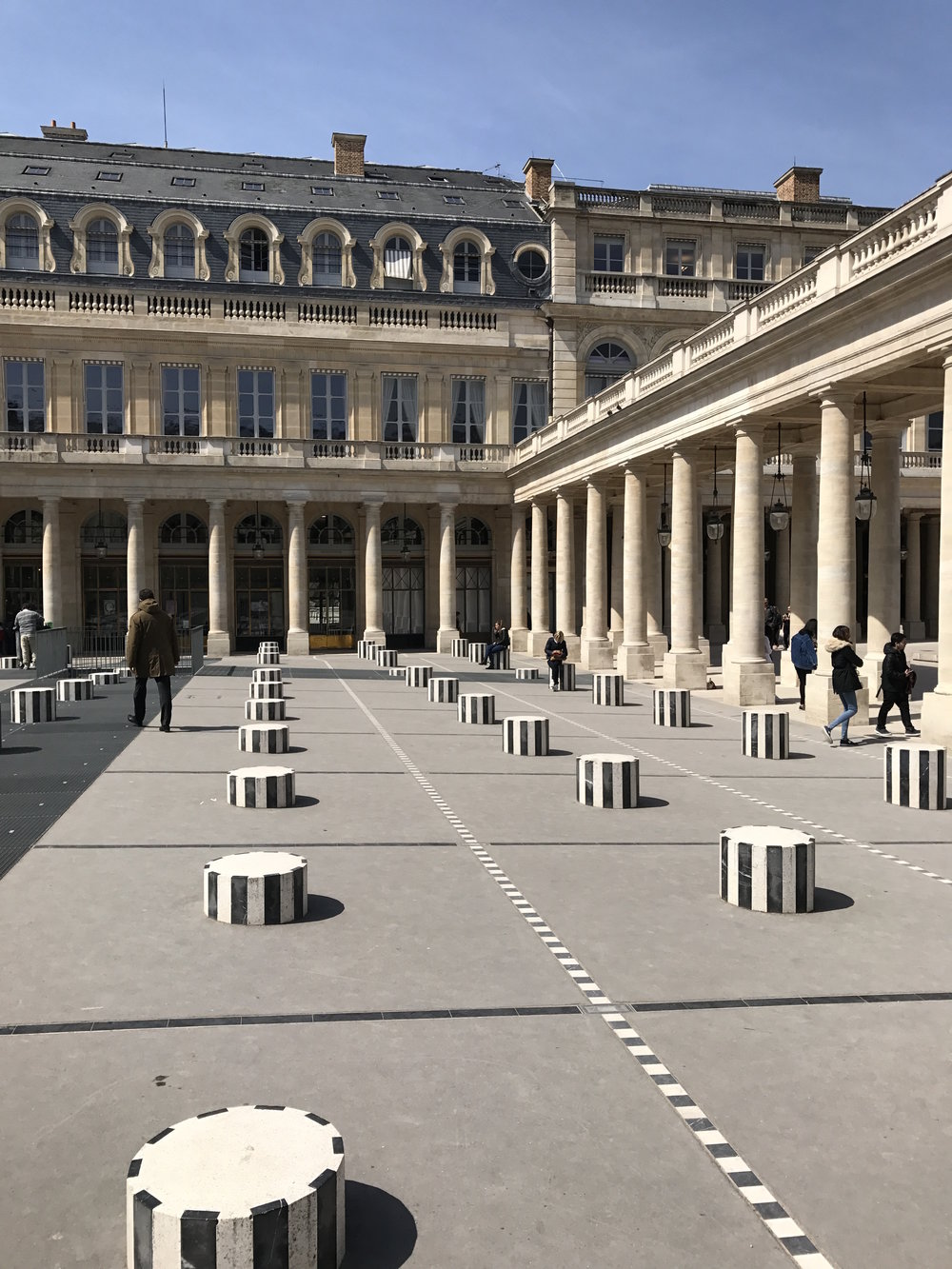 Grand hotel du palais royal paris black tomato - There Are Black And White Striped Columns That Allow People To Stand Upon And Also Gorgeously Manicured Tree Lined Walkways