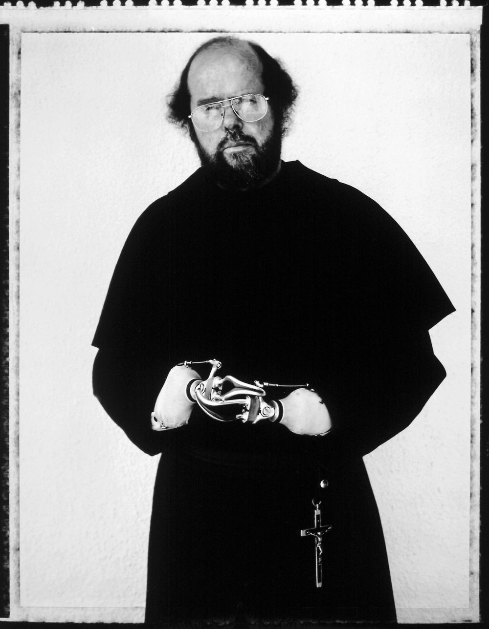 Father Michael Lapsley, Cape Town, South Africa, 16th February 1997. He received a letter bomb in 1991.