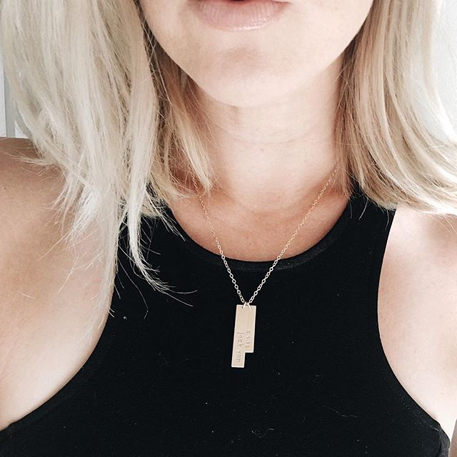 Obsessed with this necklace from my hubby by @leilajewelry :::He personalized it to say our son's name and birthdate::: #Jackvan . . . . #babyjack #veganbaby #vegan #veganmama #thatsdarling #modernmama #boymom #dailyparenting #momswithcameras #instabest  #themodernmamahood #vegansnack #whatveganseat #motherhoodunplugged  #vegan #healthylifestyle #weightloss #healthcoach #veganmama #vegansofig #veganlife #blogging #bloglife #momblog #momblogging #blog #blogger #lifestyleblogger #themodernmamahood