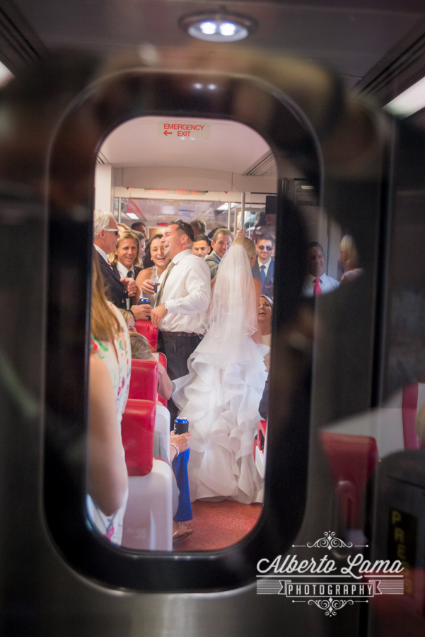 Wedding at Metro North Railroad