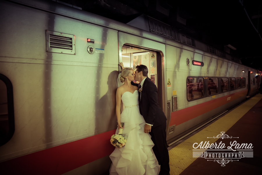 Wedding at the MTA Train