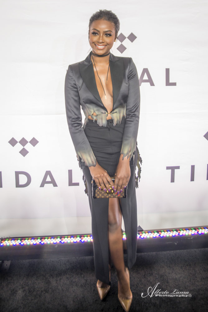 Justine Skye arrives to the Red Carpet at TIDAL X benefit concert in NYC