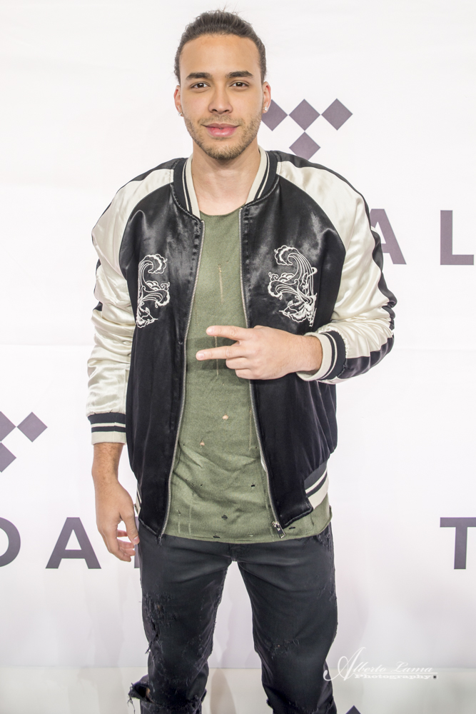 Prince Royce arrives to the Red Carpet at TIDAL X benefit concert in NYC