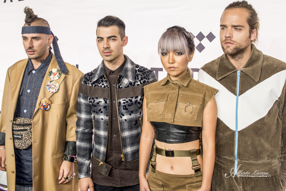 DNCE arrives to the Red Carpet at TIDAL X benefit concert in NYC