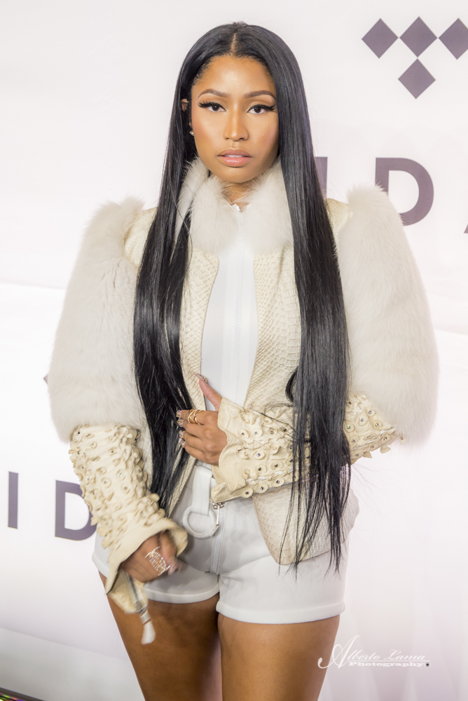 Nicki Minaj arrives to the Red Carpet at TIDAL X benefit concert in NYC