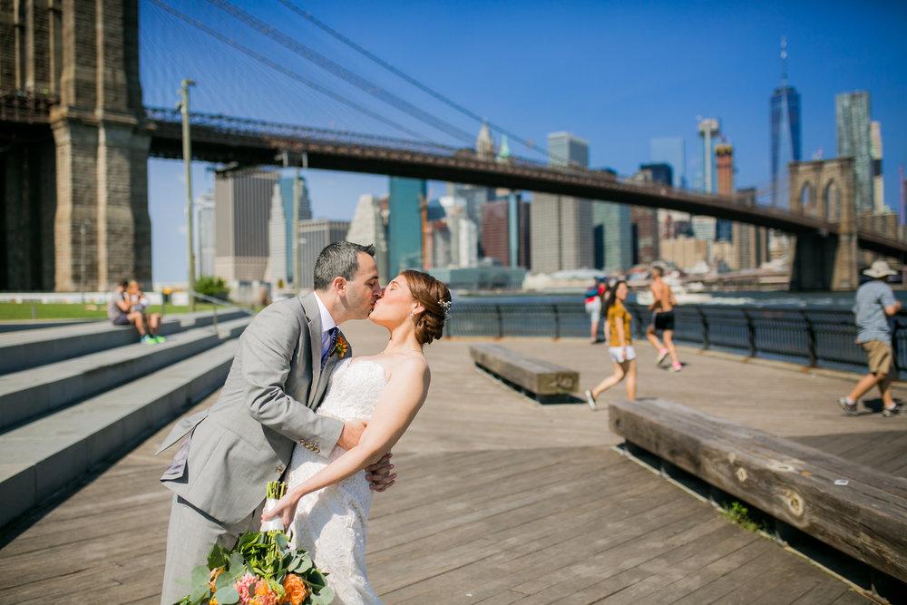 Allison & David Romantic Wedding in Dumbo & Chelsea Pears by Unveiled-Weddings.com #SunsetTerrace #weddingdress #NewYorkWedding #Brooklynwedding #ChealseaPiers