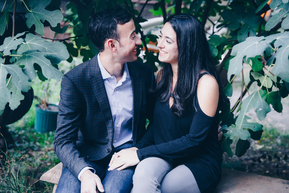 Proposal at Elizabeth Street Garden in New York by Unveiled-Weddings.com