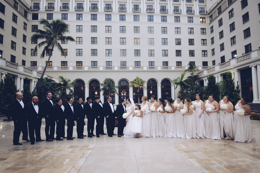Leesha & Camilo destination wedding at  The Breakers, Palm Beach.  FL. by www.Unveiled-Weddings.com #TheBreakers #PalmBeach #WeddingPhotographer #WeddingDress #BreakersPalmBeach #FloridaWeddings